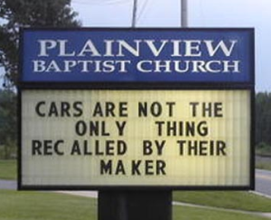 Car & People Recalled